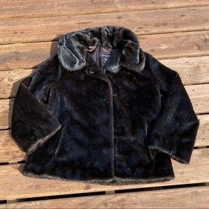 Jones New York Faux Fur Coat size L
